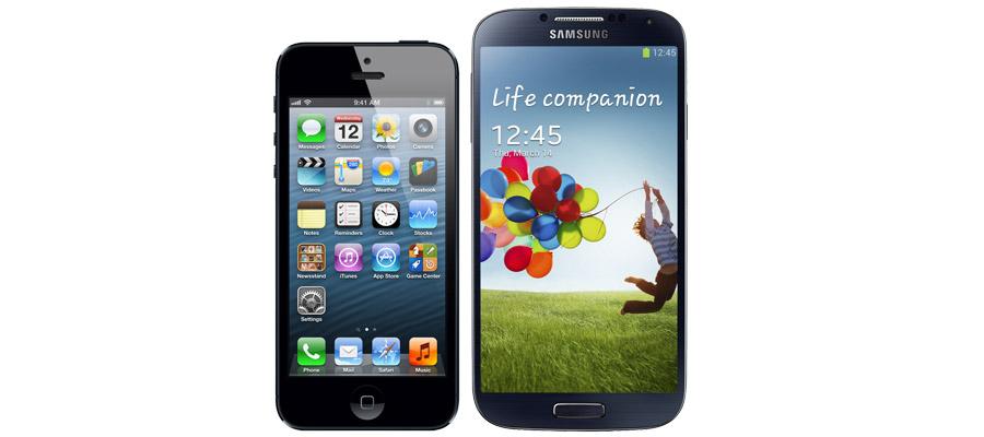 Comparatif iPhone 5S et Galaxy S4
