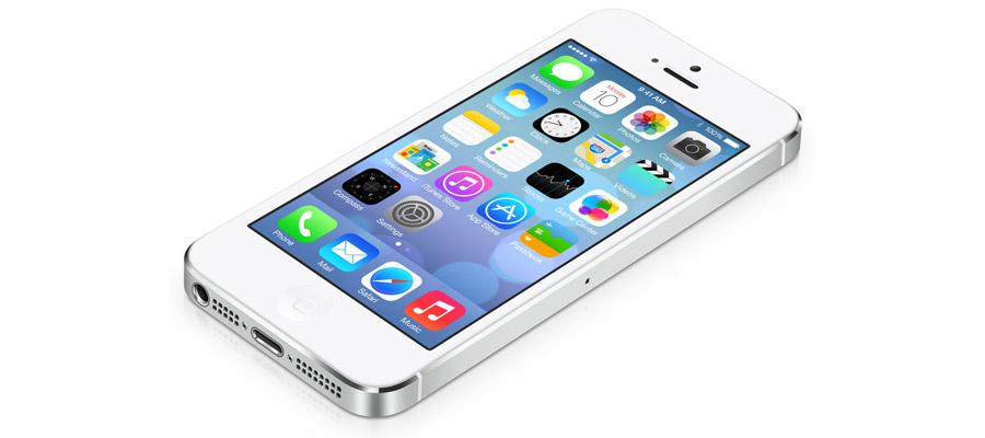 l'iPhone 5S avec l'IOS 7