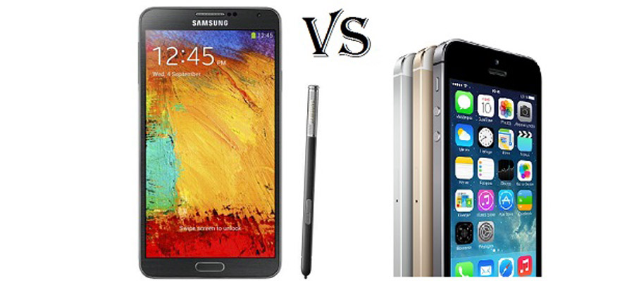 Comparatif iPhone 5S et Galaxy Note 3