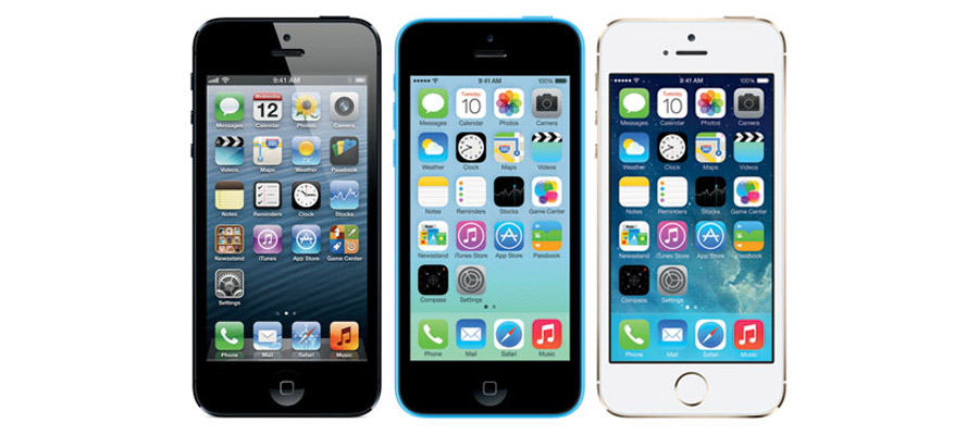 iPhone 5S et iPhone 5C,