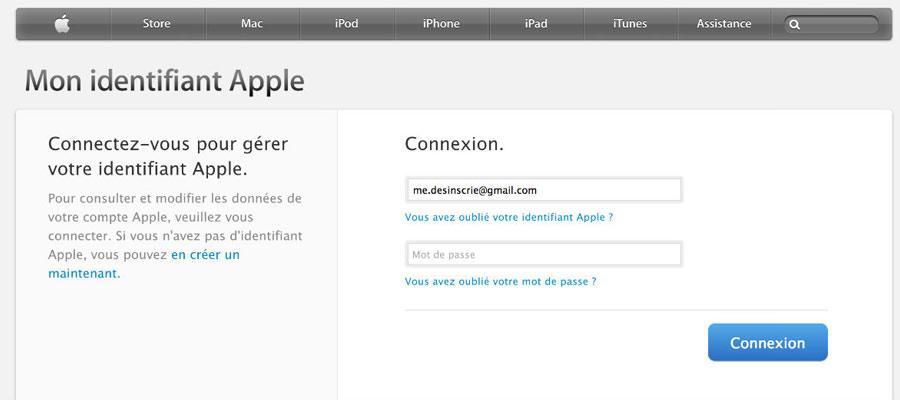 un identifiant Apple